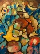 """Mediterranean Landscape Oil on Canvas 16""""x20"""" 2017 $500"""