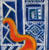 "Orange Cathedra 6""x6"""