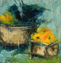 "Baskets and Bowl 6""x6"""