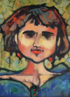 "Labradorite Oil on Canvas Paper 12""x16"""