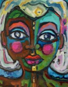"""Angel Aura Oil on Board 11""""x14"""""""