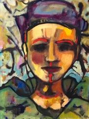 "Amazonite Oil on Canvas Paper 12""x16"""